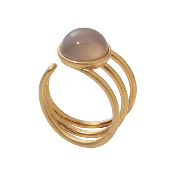 Sence Copenhagen Fairytale Ring Grey Agate matt gold