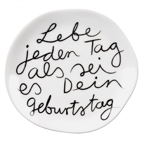 """räder Mix & Match Porzellan-Teller """"Lebe jeden Tag"""" klein"""