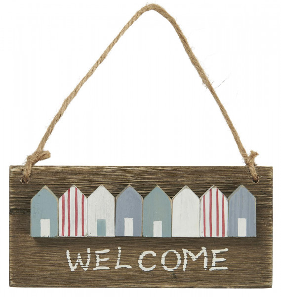 "Ib Laursen Holzschild ""WELCOME"""