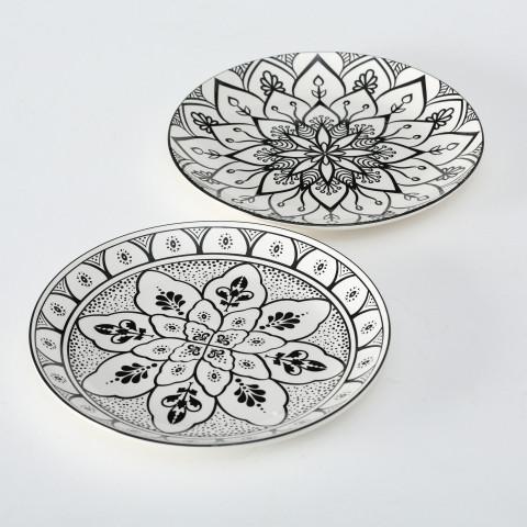 Porzellan-Teller Aniqua in 2 verschiedenen Varianten