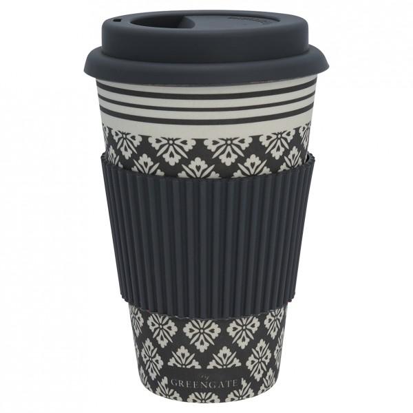 Greengate Travel mug / Thermobecher Jackie dark grey