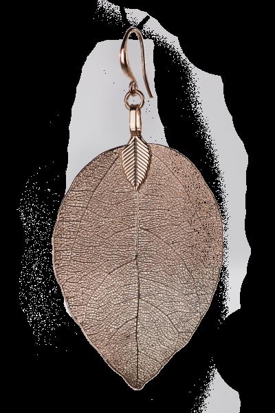 Blumenkind Blatt-Anhänger Edelstahl Rosé-Gold, medium