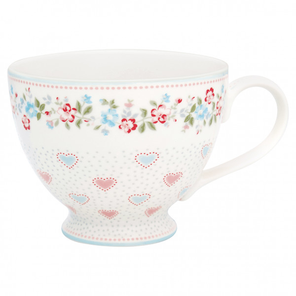 Greengate Teacup Sonia White