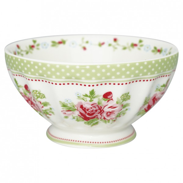 Greengate French Bowl XL Mary white
