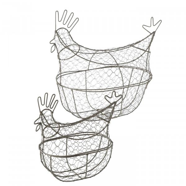 Drahtkorb Huhn zum Befüllen H 40 cm