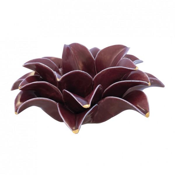Grengate Kerzenhalter Flower Lotus plum medium