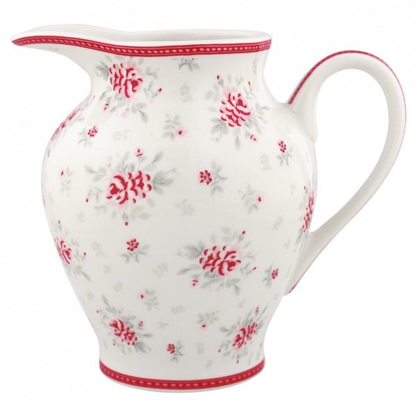 Greengate Porzellan-Milchkännchen Flora White