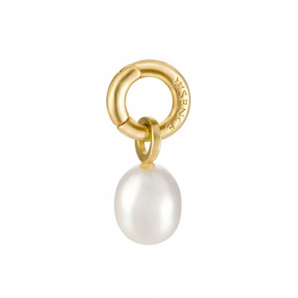 Sence Copenhagen Signature Charm Freshwater Pearl matt gold