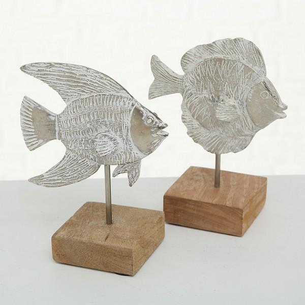 Deko-Aufsteller Fisch Aluminium 2 Varianten