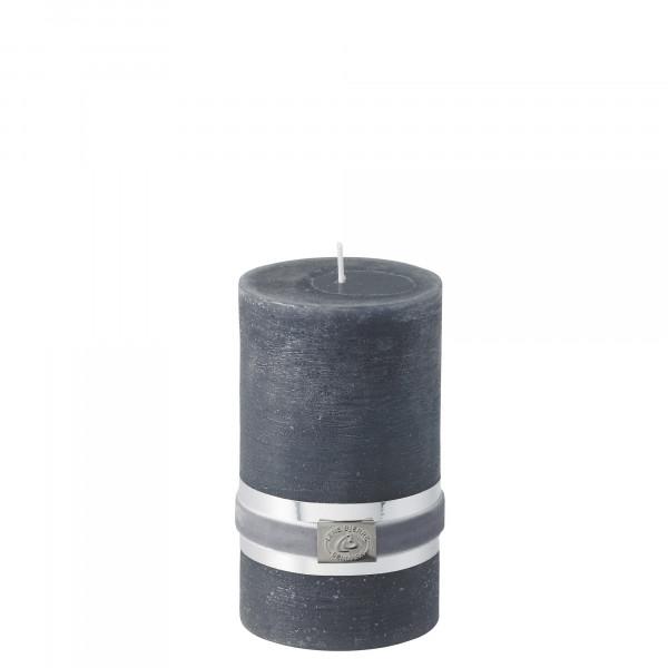 Lene Bjerre Stumpenkerze Dark Grey H 12,5 cm