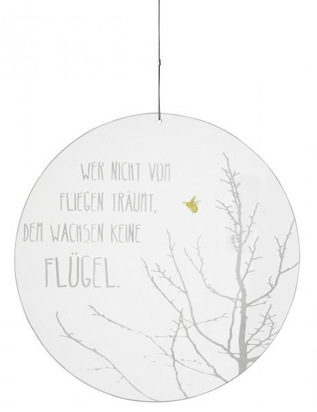 """räder Zuhause Glaspoesie """"Wer nicht vom Fliegen...."""""""