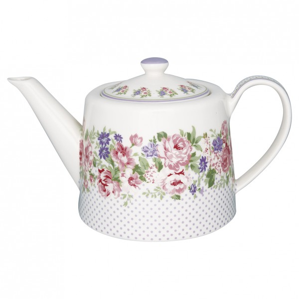 Greengate Teekanne Rose white