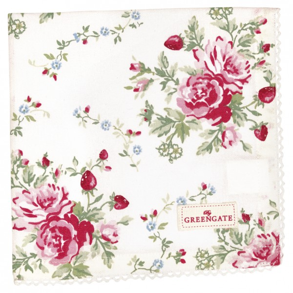 Greengate Stoffserviette Mary white