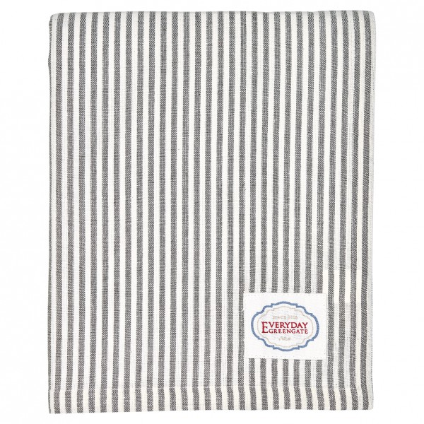 Greengate Tischdecke Alice Stripe grey 145 x 250