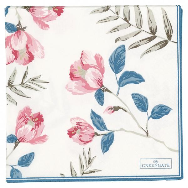 Greengate Papierservietten Magnolia white gross 20 Stück
