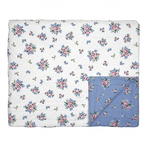 Greengate Quilt / Bed Cover Nicoline dusty blue  140 x 220 cm