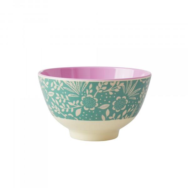 Rice Melamin Schüssel Farn und Blumen Print klein