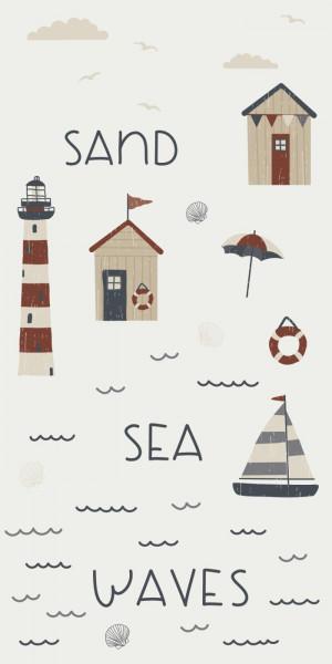 Ib Laursen Papierserviette Sea Sand Waves, 16 Stück