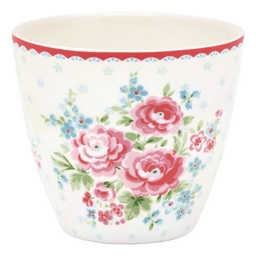 Greengate Latte Cup Tess white