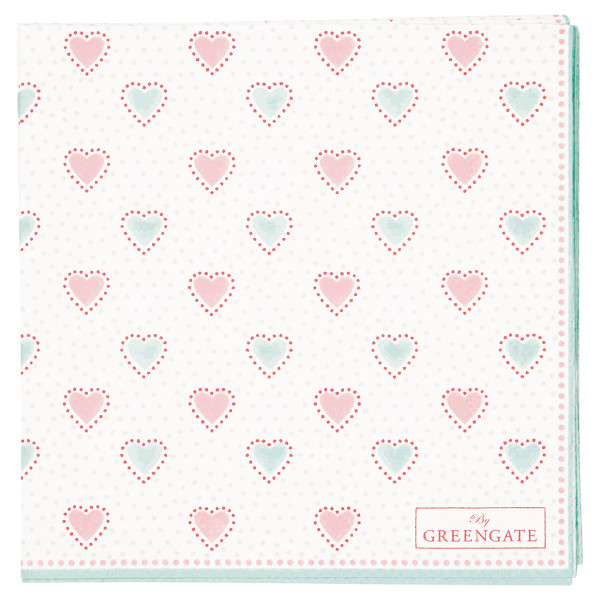 Greengate Papierservietten Penny white small 20 Stück
