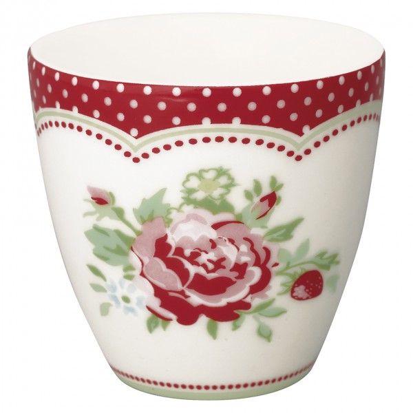 Greengate Mini Latte Cup Lily Mary white