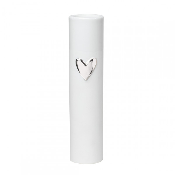 räder Living Vase Herz Silber
