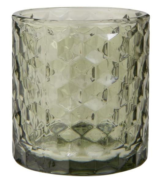 Ib Laursen Teelichthalter aus Glas grün
